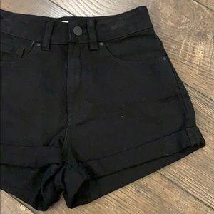 Bullhead Black Denim Mom Shorts